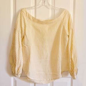 Anthropologie Maeve Off the Shoulder Striped Top